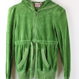 Women's Green Juicy Couture Sweater, Size Petite